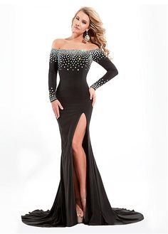Gorgeous Charmeuse & Tulle Off-the-shoulder Neckline Floor-Length Sheath Prom Dress