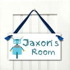 Ladybird Personalised *ANY LETTER /& NAME* kids Room Door Sign Plaque duckegg