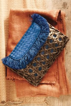 ❤  Fringed Wicker #clutch #purse #bag from  anthropologie.com