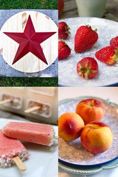 Strawberry Peach Coconut Popsicles via FamilyFreshCooking.com ©Marla Meridith Photography #spring #summer #dessert