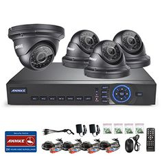 Special Offers - [AHD-720P] ANNKE 4CH 720P AHD CCTV DVR Recorder w/ 4HD 1280720 Surveillance Camera System ( 100ft Superior Night Vision IP66 Weatherproof Metal Housing P2P Tech Smartphone QR Code Scan Easy Remote Access No HDD)-2 Year Free Warranty - In stock & Free Shipping. You can save more money! Check It (June 20 2016 at 08:35AM)…