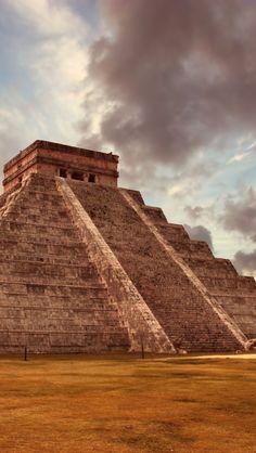 Kukulkan Pyramid Mexico iPhone 5 wallpapers, backgrounds, 640 x 1136