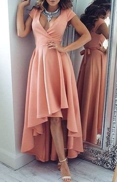 Elegant Prom Dresses, Zipper Asymmetrical V-Neck A-line Homecoming Dress Hot Sale Dresses Shop for La Femme prom dresses. Elegant long designer gowns, sexy cocktail dresses, short semi-formal dresses, and party dresses. Pretty Dresses, Beautiful Dresses, Dress Skirt, Dress Up, Wrap Dress, Rose Dress, Chic Dress, Dress Long, Chiffon Dress