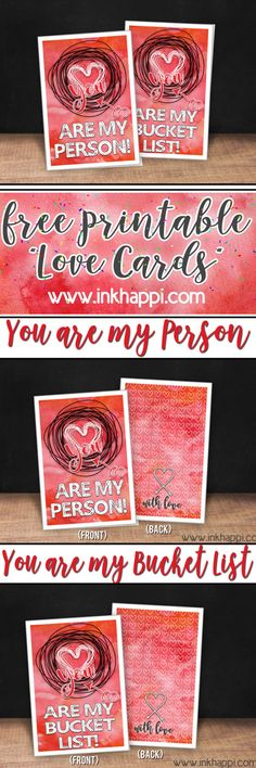 These free printable love cards are so cute! #valentines #freeprintables