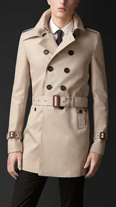 Burberry Prorsum Cotton Gabardine Trench Coat