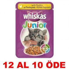 WHİSKAS POUCH JUNIOR TAVUKLU YAVRU KEDİ KONSERVESİ 100 GR. (12 AL 10 ÖDE) #kedi #kedimaması Pro Plan Puppy, Chicken For Dogs, Poultry, Dog Food Recipes, Dogs And Puppies, Pet Supplies, Pets, Pet Food, Animals And Pets