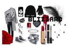 """grey blizzard"" by joellesmolenaers on Polyvore featuring mode, Giorgio Armani, Converse, Burke Decor, Essie, Chanel en Boohoo"