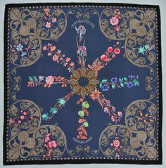 Hermes Scarf Arabesques Silk Henri d'Origny Floral by neverfull