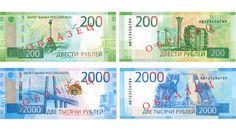 Банкноты 200 и 2000 рублей поступили в обращение в России