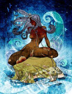 Super Ideas For Fantasy Art Goddesses Divine Feminine Orisha, Sacred Feminine, Goddess Art, Mystique, Gods And Goddesses, Gaia, Black Art, Deities, Mother Earth