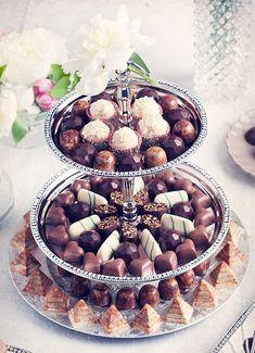 Choklad på bröllop.