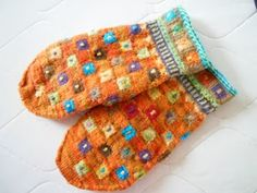 Lace and Lupins: Ravellenic 2014, Folkloric Blocks Mittens