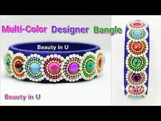 How to make Designer Silk Thread Bangle in Simple Steps at Home | Tutorial - YouTube