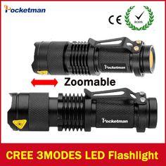 2017 LED flashlight Lanterna led High Power Torch 2000 lumen Zoomable mini Flashlight tatica light lantern high-quality