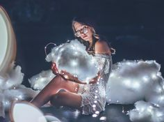 Castle on a cloud☁️✨ Fairy Light Photography, Girl Photography, Creative Photography, Brandon Woelfel, Shooting Photo, Photo Poses, Photo And Video, Cloud, Lightning Photos