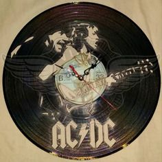 22,50 € Horloge vinyle décoration ac/dc Ac Dc, Vinyl Cd, Record Art, Rock And Roll Bands, Boutique, Lps, Decoration, Clocks, Albums