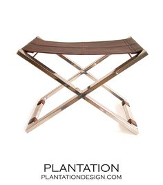 PLANTATION | Mister X Chrome Stool | Brown