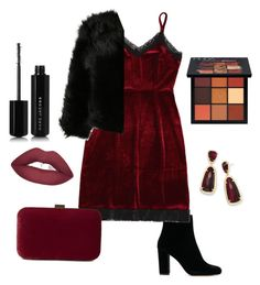 """maroon glamourious style"" by rofaa187 ❤ liked on Polyvore featuring John Lewis, Kendra Scott, Huda Beauty, Marc Jacobs and Christmas"