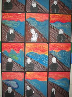 kids   -The Scream (Norwegian: Skrik) is a series of Expressionist paintings and prints created by Norwegian artist Edvard Munch between 1893 and 1910