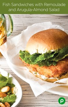 There are hundreds of ways to make a fish sandwich. The Fish Sandwich with Remoulade and Arugula-Almond Salad with finely chopped capers and onions is one way you probably haven't tried before. Now that you know this recipe from Publix Aprons exists, there's no excuse for depriving yourself of this delicious combination.