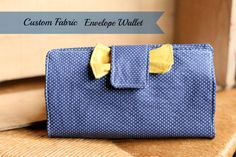 Custom Fabric Envelope Wallet-You choose the fabric!