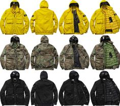 Supreme x Stone Island – Fall/Winter 2014 Collection   Available Now.