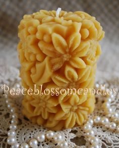 beeswax candles flowers