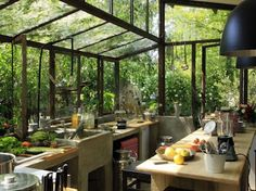 Garden Kitchen - Beautiful in northern climates, but I think it would be too hot in the summer in the South.