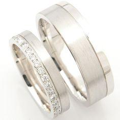Platinum Matching Pair of Wedding Rings, Form Bespoke Jewellers, Leeds