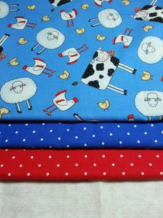 SALE 3 Yards Cows Sheep Chickens Cotton by gallagherquilting