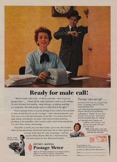 Wow! This retro ad sure reflects the different values of the time. Brought to you by Shoplet.com - everything for your business.