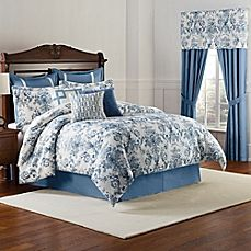 image of Williamsburg Randolph Comforter Set in Blue