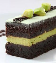 """Layered Chocolate & Avocado Cream Cake: Never in a million years thought my husband would eat this! IT IS DELICIOUS and went straight into out """"Favorites"""" recipe file. Have shared it with 4 other people, and heard back from two - both who loved it and asked for the recipe!   via @SparkPeople #food #dessert #healthy"""