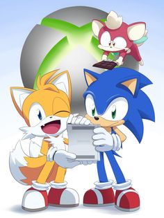 Sonic, Tails, and Chip.