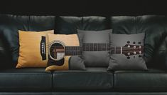 Discover thousands of images about Acoustic Guitar Pillow Diy Pillow Covers, Diy Pillows, Cushion Covers, Decorative Pillows, Cushions, Throw Pillows, Guitar Room, Guitar Art, Guitar Tattoo