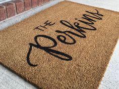 Custom Hand Lettered Door Mat Wedding Gift House warming gift