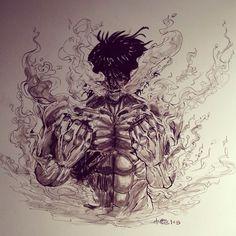 Eren's titan form by artdan24