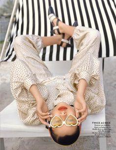 Kiyara Poses in Polka Dot Prints for Vogue India