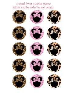 Minnie Mouse on animal skin background