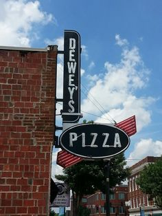 Dewey's Pizza in Edwardsville, Illinois.  The Bronx Bomber and Dr. Dre pizzas are great! So is the service.