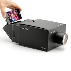 Portable Cardboard Mobile Phone Projector #miniporjector #iphoneprojector #projector #DIY #iphone #bitcoin