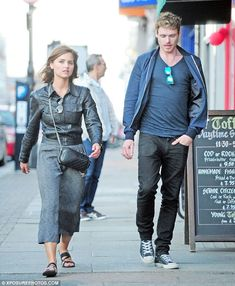 Back on? Jenna Coleman and Richard Madden looked to quash split rumours when they were spo...