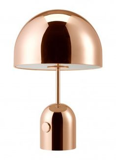Bell table light chrome by Tom Dixon An exercise in reductionism – Bell is a dome suspended over a dome formed of chrome plated pressed steel. The hyper-polish