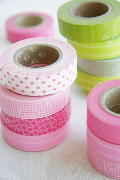 Lime + Pink Tape #tape #pink #green