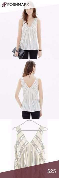 Madewell Dance Floor Tank in Stripe Size Medium FABULOUS Madewell Dance Floor Tank in Stripe. Size Medium. Good Used Condition. More Photos & Info COMING SOON! Madewell Tops Blouses