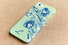Floral iPhone SE Case Flowers in Blue and by JoyMerrymanStore