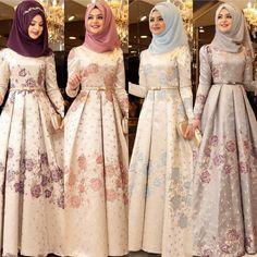En Şık Pınar Şems Tesettür Abiye Elbise Modelleri | Tesettür Elbiseleri Muslim Prom Dress, Hijab Evening Dress, Pakistani Formal Dresses, Fancy Dress Design, Stylish Dress Designs, Muslim Women Fashion, Islamic Fashion, Stylish Dresses For Girls, Modest Dresses