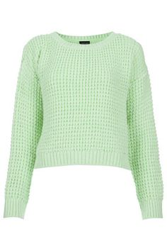 Knitted Textured Crop Jumper - Knitwear  - Clothing