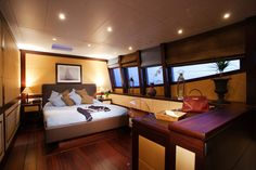 Catamaran yacht interior