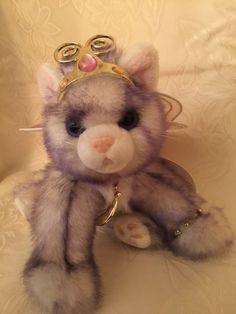 Aurora Cat Catapillers Purple Gray Plush Jewel Wing Stuffed Toy w/ Jewelry NWT #Aurora